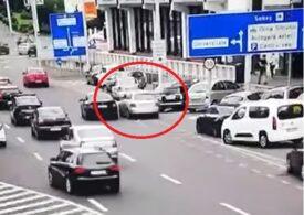 Cursă ca în filme la Sibiu: Un șofer de 20 de ani a încălcat toate regulile ca să scape de polițiști, dar n-a reușit