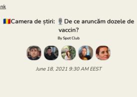 De ce aruncăm dozele de vaccin? Discutăm în Camera de Știri de pe Clubhouse. Intră și tu!