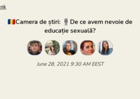 De ce avem nevoie de educație sexuală? Discutăm în Camera de Știri de pe Clubhouse. Intră și tu!