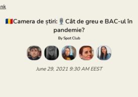 Cât de greu e Bac-ul în pandemie? Discutăm în Camera de Știri de pe Clubhouse. Intră și tu!
