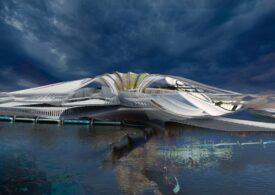 O staţiune turistică plutitoare construită în mijlocul oceanului din gunoaiele recuperate
