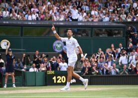 Novak Djokovici câștigă al șaselea trofeu la Wimbledon și intră în istoria tenisului