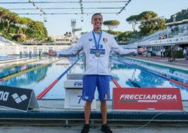 David Popovici a devenit campion european în proba juniorilor la natație cu un record mondial