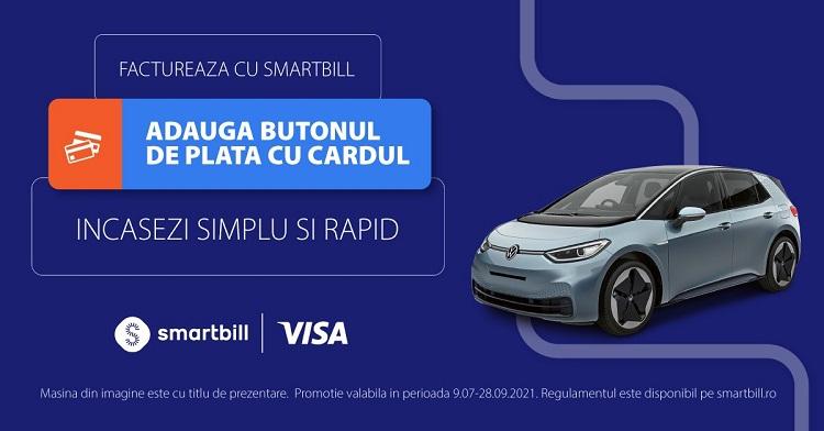 VISA și SmartBill lansează o soluție pentru problemele de cash-flow din sectorul IMM: încasarea prin plata cu cardul direct de pe factură
