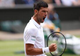Novak Djokovic, pentru a 10-a oară în semifinale la Wimbledon