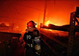 Incendiu la groapa de gunoi din Arad