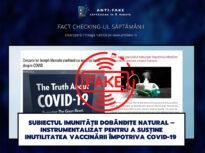 Fact checking-ul săptămânii: Subiectul imunității dobândite natural – instrumentalizat pentru a susține inutilitatea vaccinării împotriva COVID-19