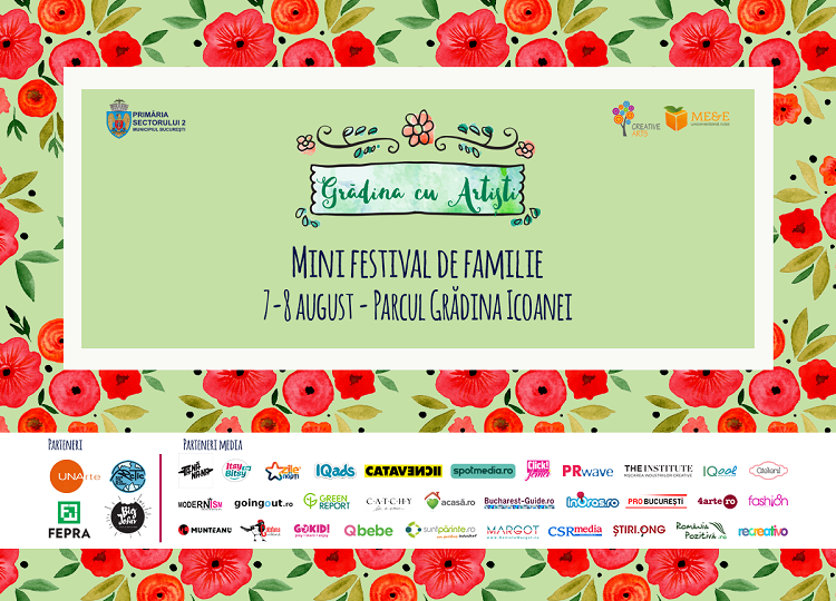 Teatru pentru copii, ateliere și târg la Grădina cu Artiști pe 7 și 8 august