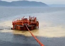 Peste 100 de tone de petrol s-au scurs în Marea Neagră dintr-un depozit rusesc