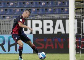 Răzvan Marin, gol marcat pentru Cagliari într-un duel al românilor din Cupa Italiei