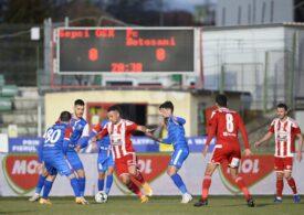 Liga 1: Sepsi OSK smulge un punct pe final pe teren propriu în fața celor din Botoșani