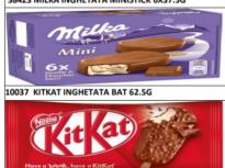 Înghețate Milka și KitKat, retrase din Mega Image, din cauza oxidului de etilenă