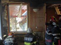 Un pompier în vacanţă a salvat o cabană din Apuseni, care se putea face scrum