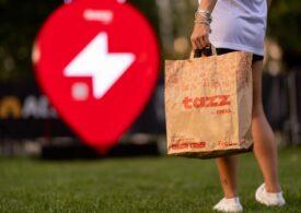 tazz by eMAG duce mâncare la Electric Castle și poate livra oriunde, chiar şi  în parc