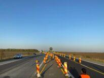 Se lucrează din nou pe A2, între Bucureşti şi Fundulea, pe bucata cu plăci de beton