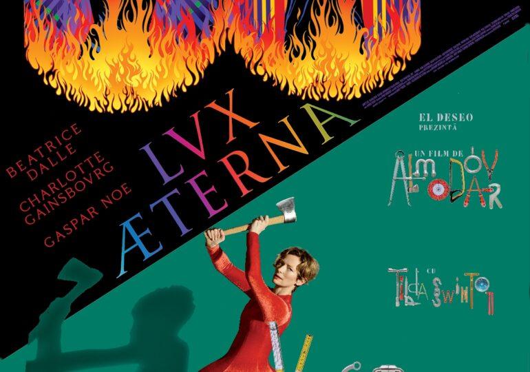 Lux Æterna, cel mai nou film al lui Gaspar Noé, și Vocea umană / The Human Voice, filmul lui Pedro Almodóvar cu Tilda Swinton, în cinema din 17 septembrie