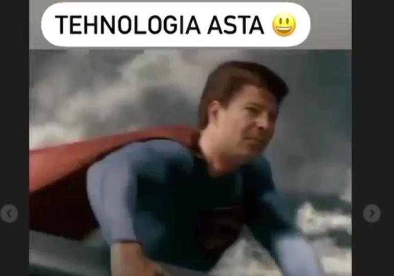 Florin Cîțu a postat un clip cu el ca Superman (Video)