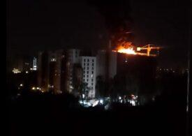 Incendiul care a izbucnit la un bloc din București ar fi pornit de la lampioane lansate la o petrecere