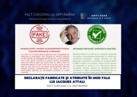 Fact checking-ul săptămânii: Declarații fabricate și atribuite în mod fals lui Jacques Attali