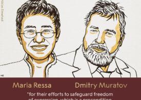 Doi jurnaliști au câștigat Nobelul pentru Pace, pentru lupta cu regimurile lui Putin și Duterte