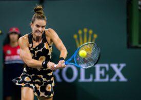 Reacția oferită de Maria Sakkari după victoria cu Simona Halep