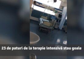 Zeci de paturi ATI stau goale la Spitalul Foișor, deşi e criză de locuri în țară. Explicaţii oficiale: Nu e nimic special